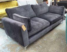 SOFA.COM SOFA, grey fabric finish, 217cm W. (with faults)