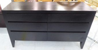 SIDEBOARD, contemporary design, ebonised finish, 150cm x 45cm x 86cm. (slight faults)
