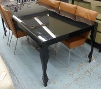 REEVES DESIGN LOUIS DINING TABLE BY JOHN REEVES, 200cm x 100cm x 77cm. (with faults)