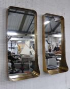 MIRRORED WALL NICHES, a pair, gilt frames, 91cm x 41cm x 13cm. (2)