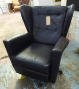 ATTRIBUTED TO HOWARD KEITH ARMCHAIR, swivel base, vintage 1960's English, 78cm W. (slight faults)