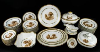 DINNER SERVICE, Vista Alegre twelve place setting including plates, soup bowls cheese/bread