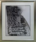 FIONA BANNER 'Superhuman Nude', inkjet with one colour screen print and one glaze, on 300gsm