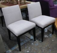 THE SOFA & CHAIR COMPANY BYRON DINING CHAIRS, a set of eight, 85cm H approx. (8)