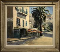 EILEEN SEYD (1908-1976) 'Ville Franche Surmer', oil on canvas, 50cm x 60cm, signed and framed.