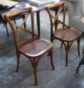 OKA CAMARGUE DINING CHAIRS, a set of six, 89cm H approx. (6)