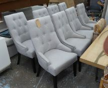 DINING CHAIRS, a set of eight, Contemporary buttoned back, herringbone upholstery, 101cm H. (8)