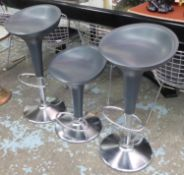 MAGIS BOMBO BAR STOOLS, a set of four, by Stefano Giovannoni, 85cm at highest. (4)