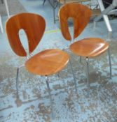 STUA GLOBUS CHAIRS, a set of four, by Jesus Gayca, 93cm H. (4)