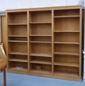 BERRY DESIGN BOOKCASE, oak, 235cm x 41cm x 206cm.