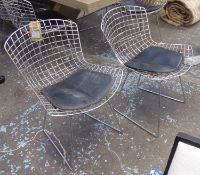 AFTER HARRY BERTOIA, Bertoia side style chairs, a set of eight, 73cm H. (8) (with faults)