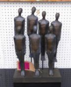 THE PEOPLE, contemporary school, in a style reminiscent of Anthony Gormley, 44cm H.