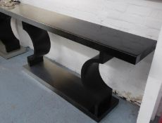TAYLOR HOWES CONSOLE TABLE, in a metallic ombre effect finish, 35cm D x 80cm H x 175cm W.
