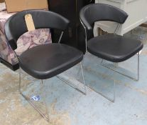 CALLIGARIS NEW YORK DINING CHAIRS, a set of six, by Lupo design, approx. 75cm H. (6)
