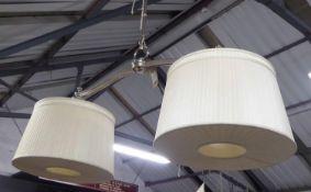 ARTEMIS DESIGN TWIN BRANCH CEILING PENDANT LIGHT, 130cm.
