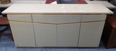 ERIC MAURLE SIDEBOARD, vintage 1970's French, 201cm x 51cm x 87cm. (slight faults)