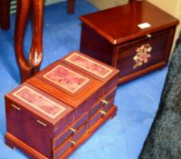 2 VARIOUS MODERN JEWELLERY BOXES