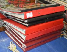 VARIOUS FOLDERS & ALBUMS WITH QUANTITY STAMPS & SMALL AUTOGRAPH BOOK