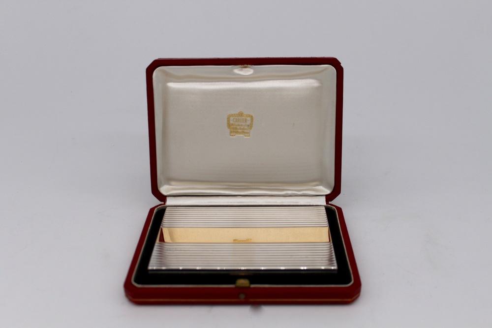 Lot 29 - Porta sigarette in oro e argento - A gold and silver cigarette case