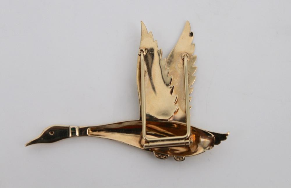Lot 34 - Spilla in oro 14 Kt - A 14 Kt gold brooch