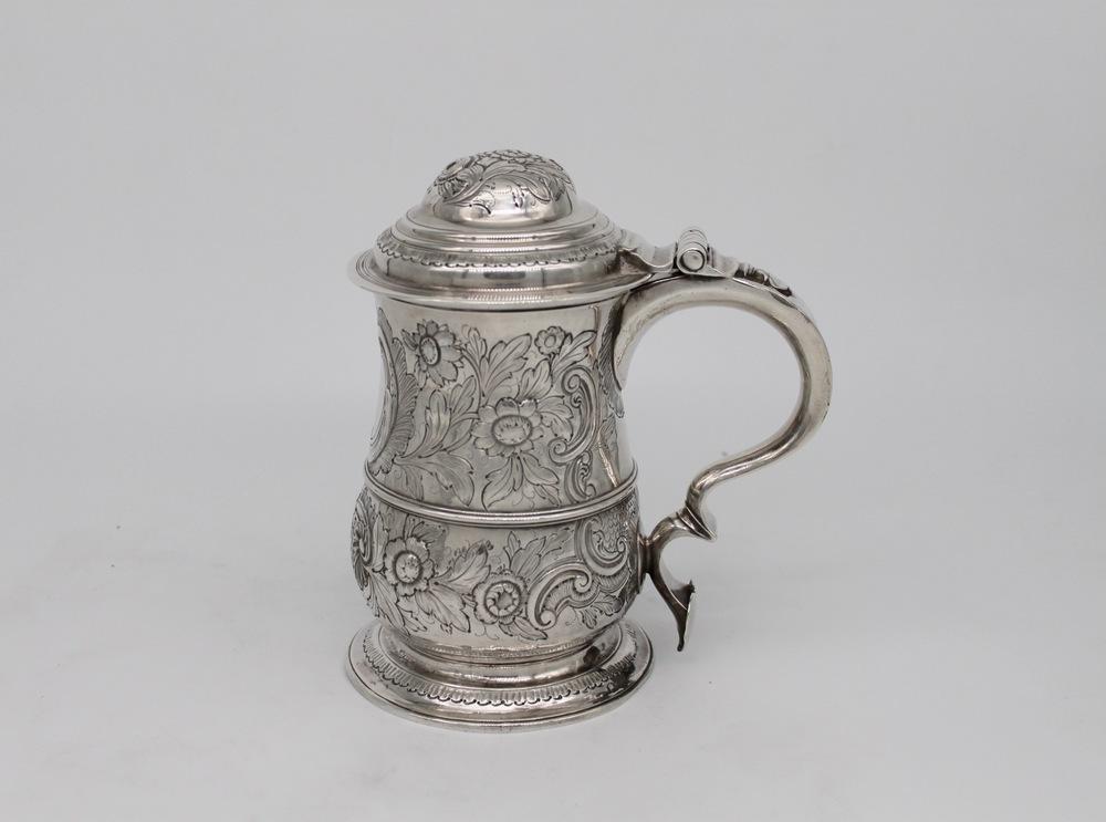 Lot 58 - Tankard in argento - A silver tankard