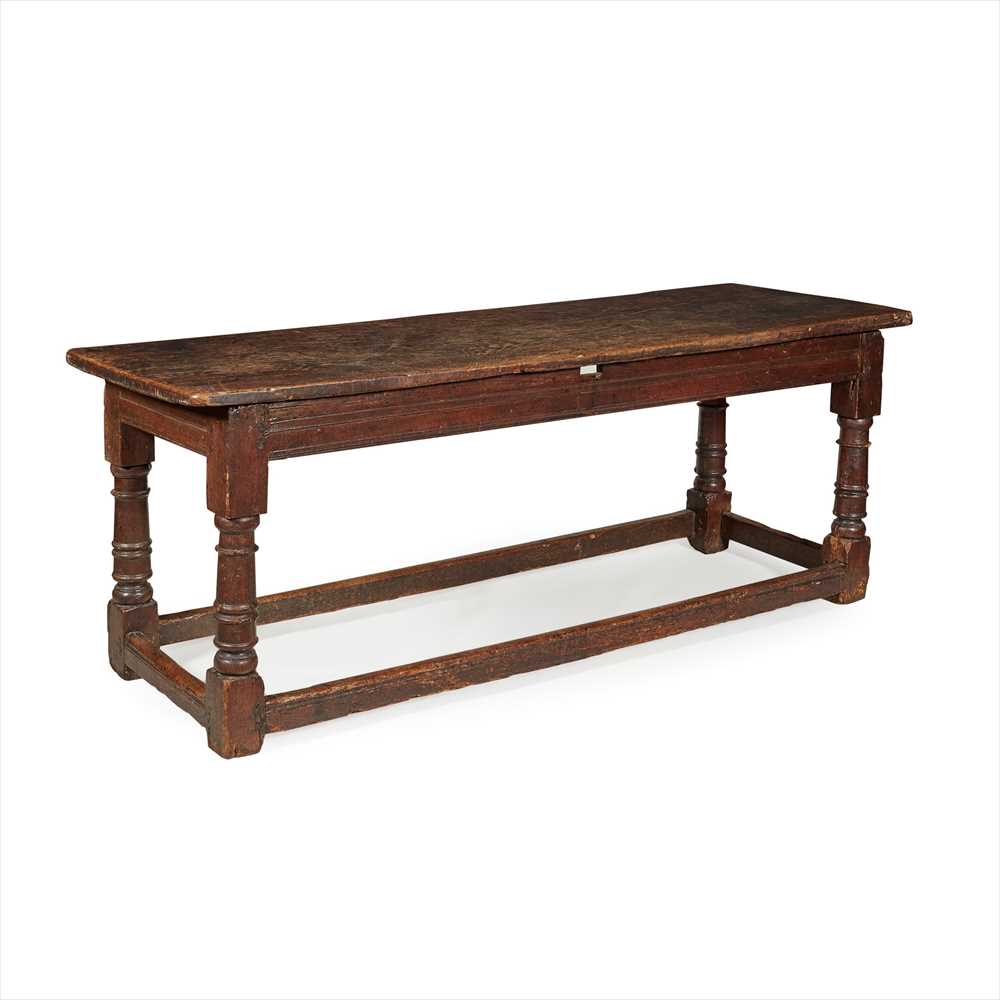 Lot 29 - OAK REFECTORY TABLE EARLY 18TH CENTURY