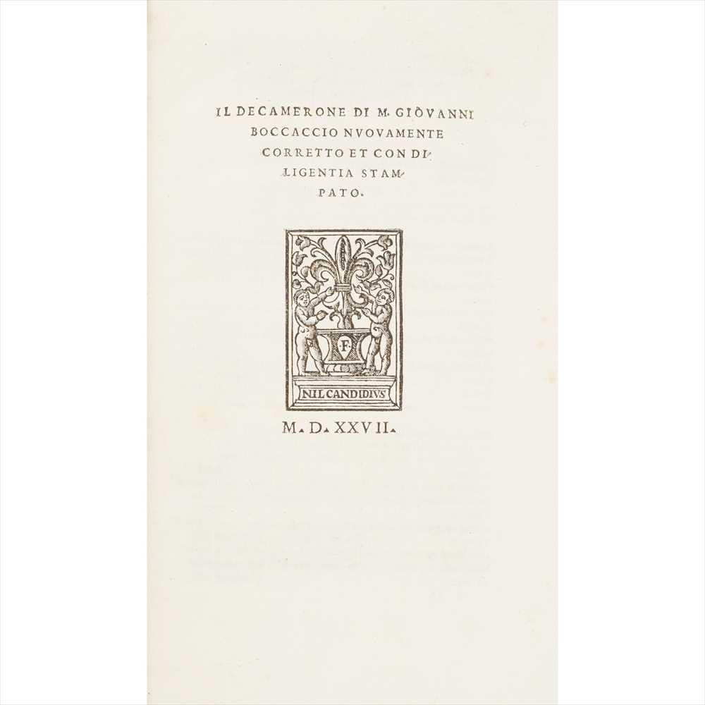 Lot 62 - Boccaccio, Giovanni Il Decamerone.. nuovamente corretto et con diligentia stampato