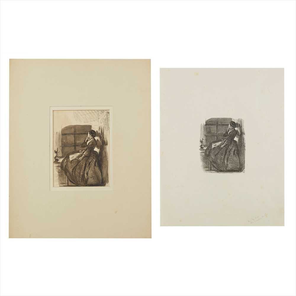 Lot 14 - Millais, John Everett Sketch and a collection of 62 proofs of woodcuts from drawings by Millais
