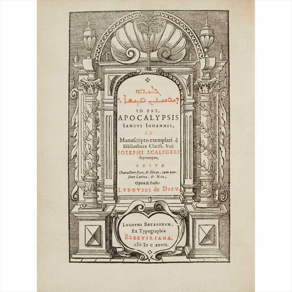 Lot 346 - Bible. Revelation. Polyglot. 1627 [Gelyana de-Yu?anan ?adisha], id est : Apocalypsis Sancti