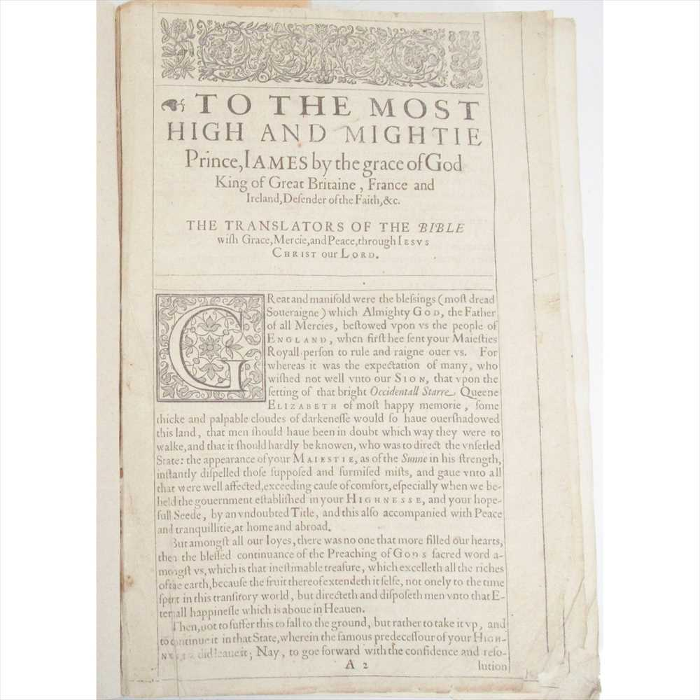 Lot 350 - The Holy Bible, 1613 Printed by Robert Barker