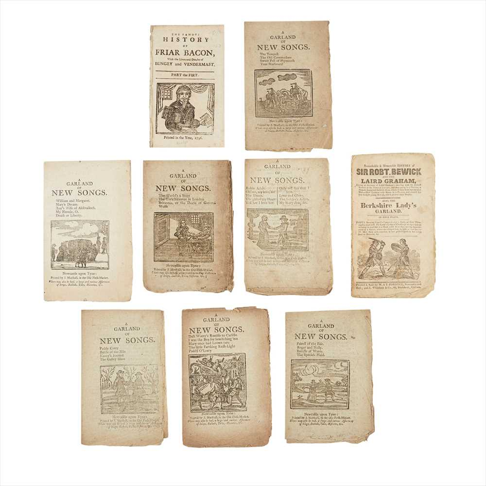 Lot 112 - Chapbooks - Newcastle-upon-Tyne including A Garland of New Songs