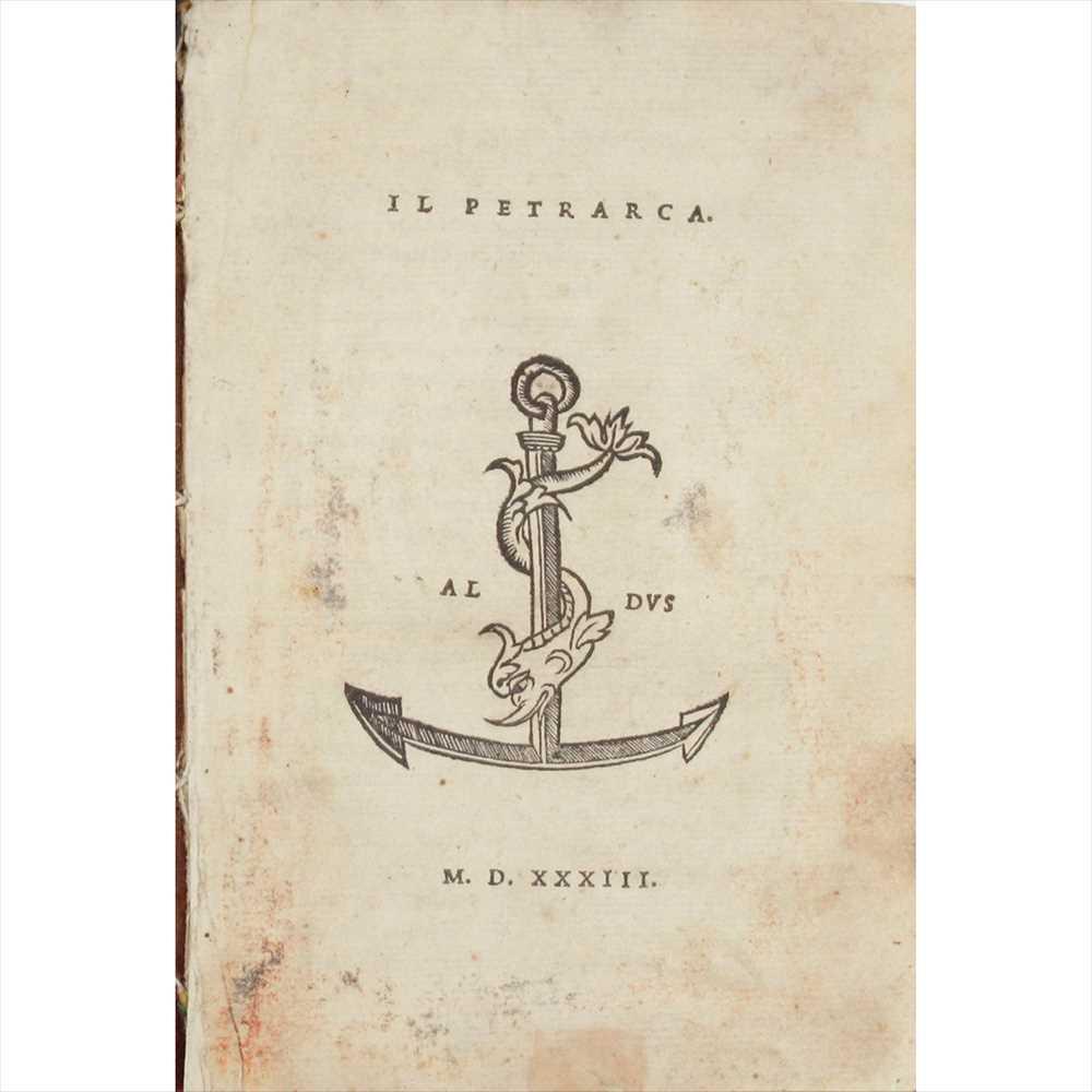 Lot 61 - Aldus - Petrarca, Francesco Il Petrarca