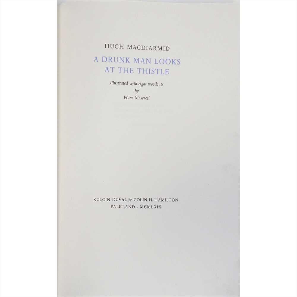 "Lot 150 - Grieve, Christopher Murray - ""Hugh MacDiarmid"" A Drunk Man Looks at the Thistle"