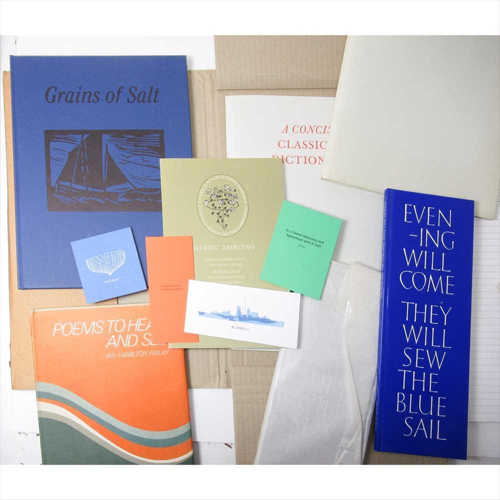 Lot 417 - Hamilton Finlay, Ian A collection, comprising Grains of Salt