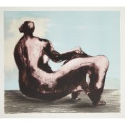 § HENRY MOORE O.M., C.H., F.B.A. (BRITISH 1898-1986) RECLINING WOMAN I  Lithograph, 1980-81, S/P (aside from the edition of 50), signed in pencil to margin  (57.5cm x 64cm (22.75in x 25.25in), unframed) | Lyon & Turnbull