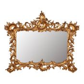 GEORGE III STYLE GILTWOOD MIRROR LATE 19TH CENTURY
