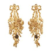 PAIR OF GILTWOOD WALL SCONCES EARLY 20TH CENTURY
