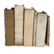 Continental Books, mainly vellum bound 6 volumes, comprising
