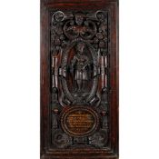 FRENCH CARVED MAHOGANY PANEL 19TH CENTURY