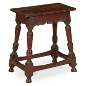 OAK JOINT STOOL LATE 17TH CENTURY