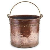 DUTCH COPPER AND BRASS MILK PAIL EARLY 19TH CENTURY