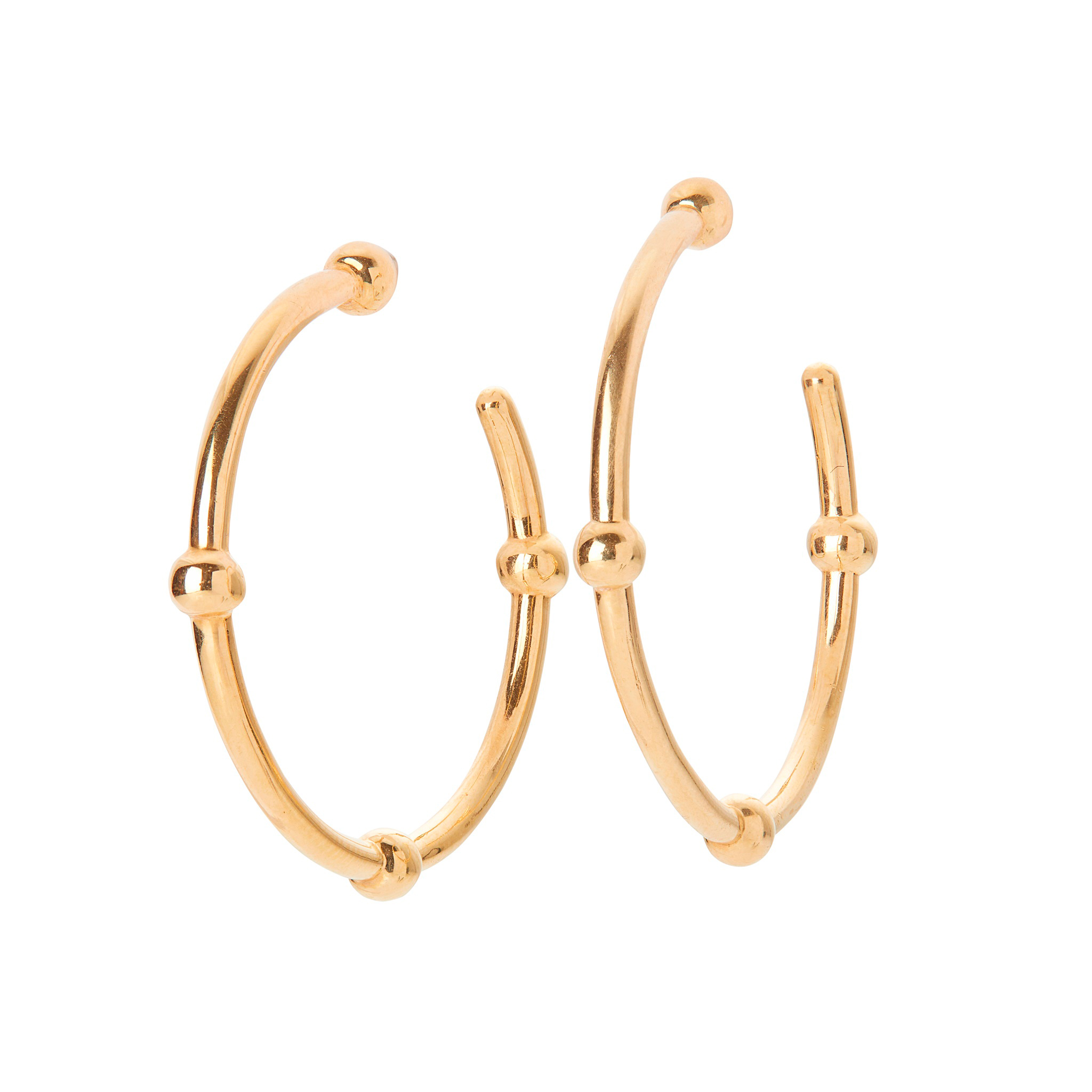 A pair of 18ct gold earrings, Tiffany & Co
