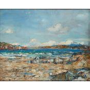 JAMES KAY R.S.A., R.S.W. (SCOTTISH 1858-1942) ON THE BEACH CARDROSS