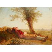 EDWARD AUGUSTUS GIFFORD (SCOTTISH 1819-1894) FARMER'S BOY - GILES
