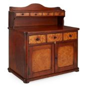 EARLY VICTORIAN BEECH, BIRCH, AND MAPLE MINIATURE DRESSER MID-19TH CENTURY