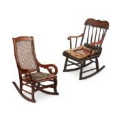 TWO AMERICAN CHILD'S ROCKING CHAIRS 19TH CENTURY
