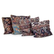 GROUP OF KELIM AND TURKEY WORK SCATTER CUSHIONS EARLY 20TH CENTURY