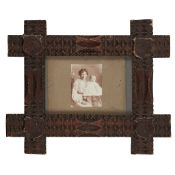 SCOTTISH LOWLANDS CHIP CARVED FRAME LATE 19TH CENTURY