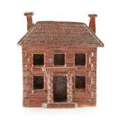 SALT-GLAZED MODEL OF A HOUSE EARLY 19TH CENTURY