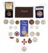 A COLLECTION OF GOLFING AND OTHER COMMEMORATIVE AND SPORTING MEDALS some silver examples (a